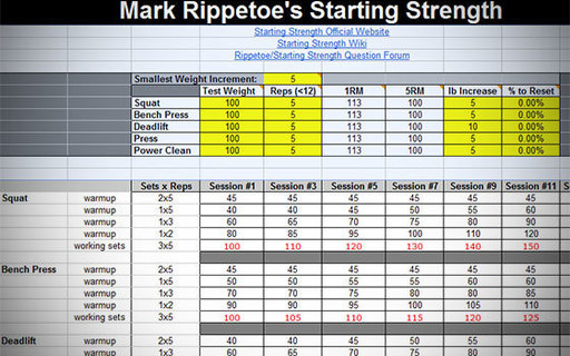 starting strength template - workout spreadsheet reddit eoua blog